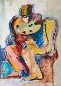 Mágico-sentado-com-paleta,-XLIX-1987