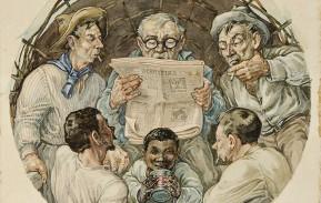 0297 José Lutzenberger - Leitura de jornal